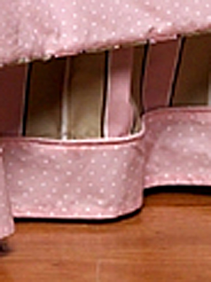 Mod Dots Pink & Chocolate Full/Queen Bed Skirt