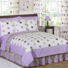 Mod Dots Purple & Chocolate Comforter Set