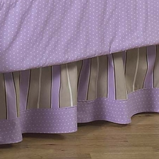 Mod Dots Purple & Chocolate Full/Queen Bed Skirt