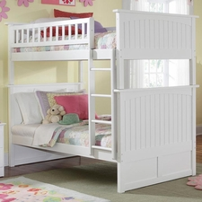 Nantucket Twin/Twin Bunk Bed in White
