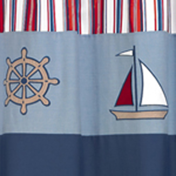Nautical Fabric Shower Curtain by Sweet Jojo Designs - Shower Curtains