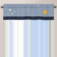 Ocean Blue Window Valance