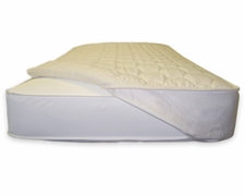 Organic Quilted Fitted Mattress Topper