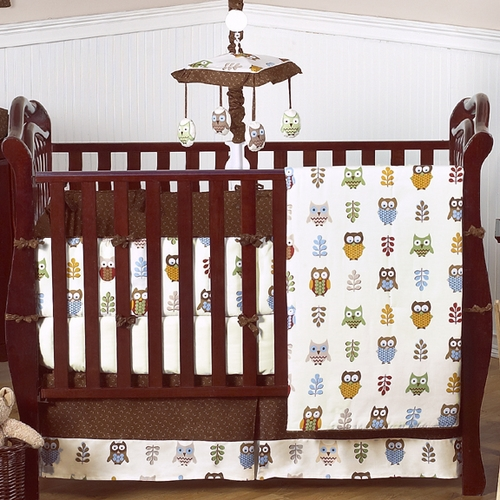 Owl 9-piece Crib Bedding Set
