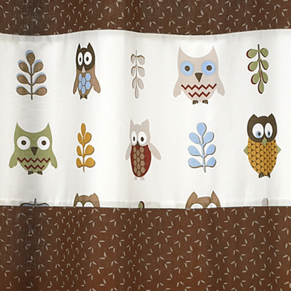 Owl Fabric Shower Curtain