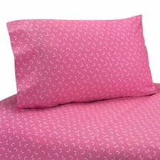 Owl Pink Kids Sheet Set