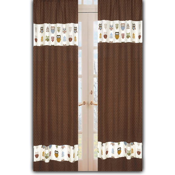 Owl Window Curtain Panels