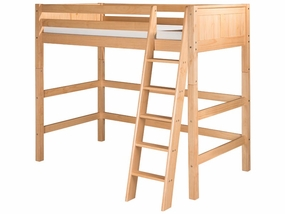Panel High Loft Bed in Natural