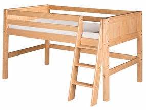 Panel Low Loft Bed in Natural