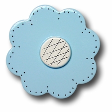 Pastel Blue Lolli Flower Drawer Pull