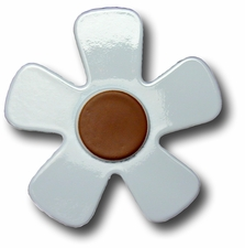 Pastel Blue w/Chocolate Center Daisy Drawer Pull