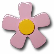 Pastel Pink w/Yellow Center Daisy Drawer Pull