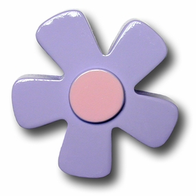 Pastel Purple w/Pink Center Daisy Drawer Pull