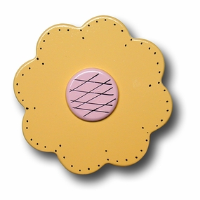 Pastel Yellow Lolli Flower Drawer Pull