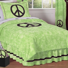 Peace Green Comforter Set
