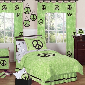 Peace Green Kids Bedding Collection