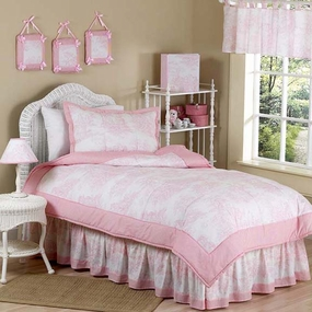 Pink Toile Kids Bedding Collection