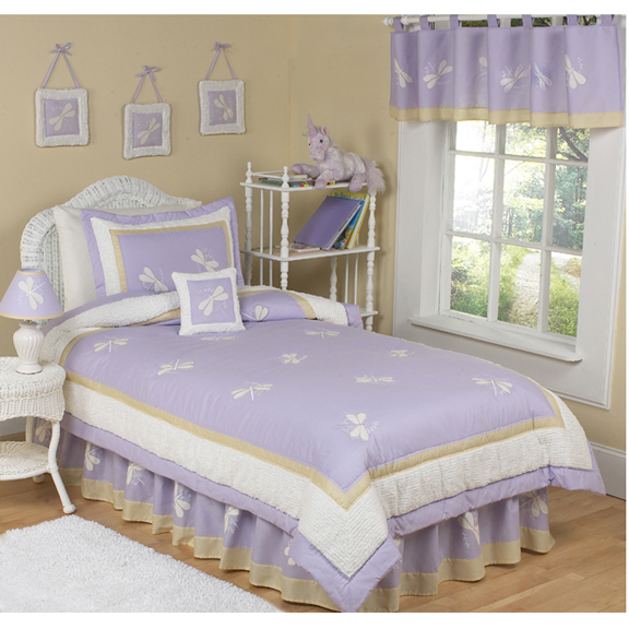 Purple Dragonfly Dreams Comforter Set