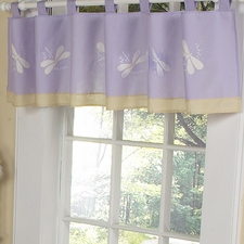 Purple Dragonfly Dreams Purple Window Valance
