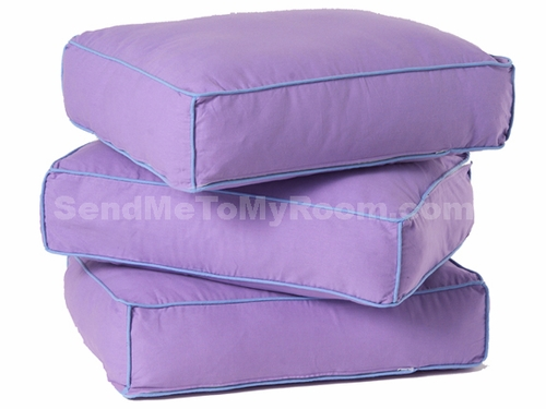 Purple/Light Blue Back Pillows (set of 3)