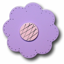 Purple Lolli Flower Drawer Pull