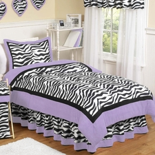 Purple Zebra Comforter Set