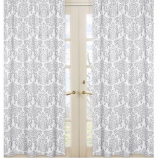 Skylar Damask Print Curtain Panels