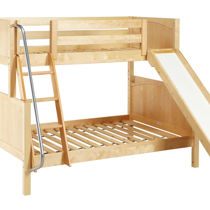 Maxtrix Slick Twin over Full Bunk Bed with Slide - Bunk Beds