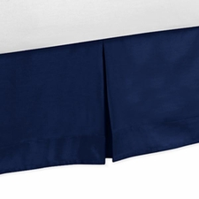 Solid Navy Full/Queen Bed Skirt