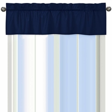 Solid Navy Window Valance