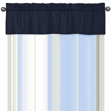 Space Galaxy Solid Navy Window Valance