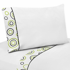 Spirodot Lime and Black Kids Sheet Set