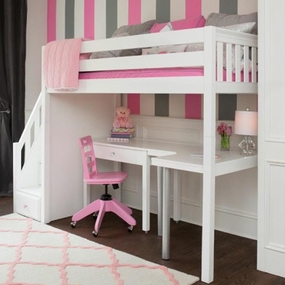 Star 4 Loft Bed with Staircase and Desk Set