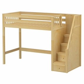 Star Twin High Loft Bed with Staircase