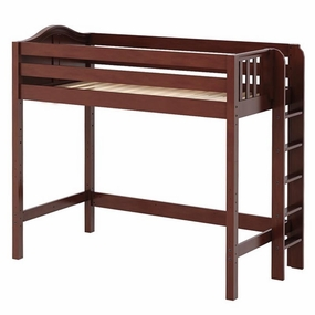 Slam Twin High Loft Bed with Straight Ladder on End