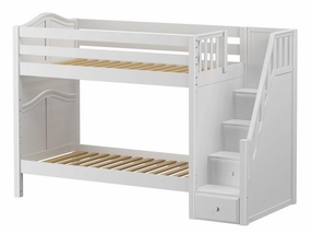 Stellar Medium Bunk Bed with Staircase