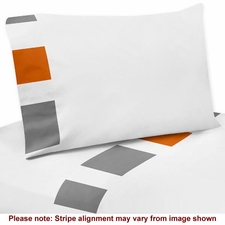 Stripe Gray and Orange Sheet Set