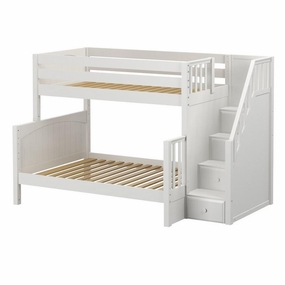 Sumo Twin/Full Medium Bunk Bed with Staircase