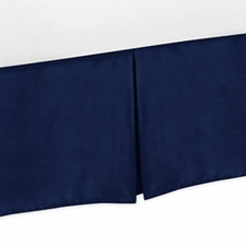 Stripe Collection Solid Navy Bed Skirt