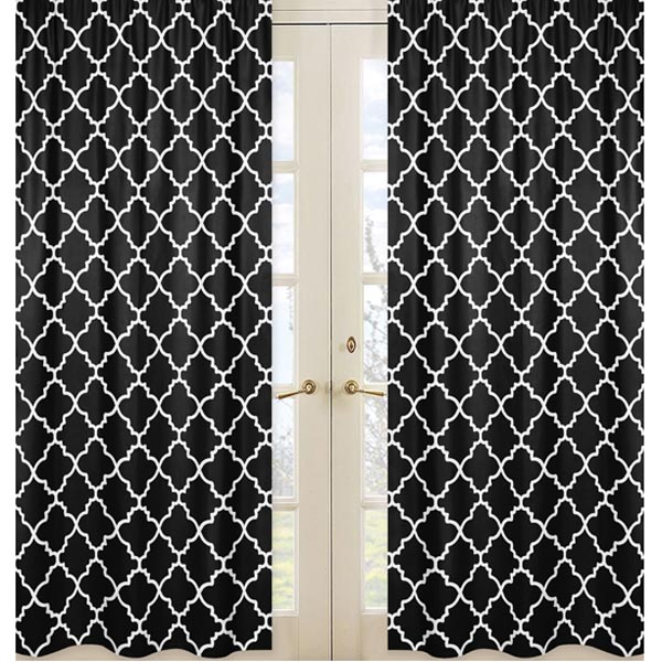 Black And White Toile Shower Curtain Black and White Curtains Z Gall
