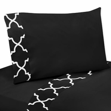 Trellis Black and White Sheet Set