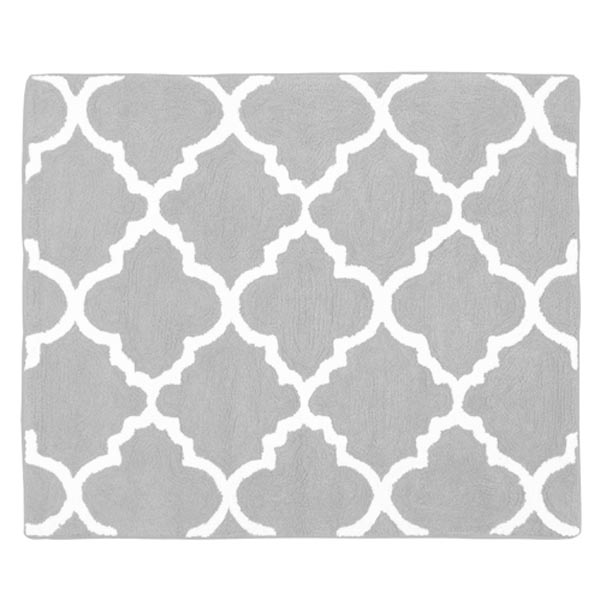 Trellis Gray And White Accent Rug