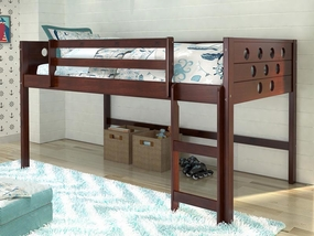 Twin Circles Low Loft Bed in Dark Cappuccino