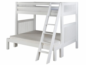 Twin/Full Mission Bunk Bed with Angled Ladder in White