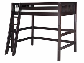 Mission High Loft Bed in Cappuccino