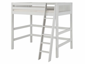 Mission High Loft Bed in White