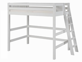 Mission High Loft Bed with Lateral Ladder in White