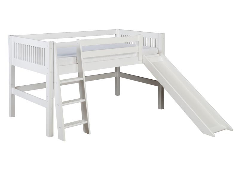 Low Loft Bed with Slide 800 x 600