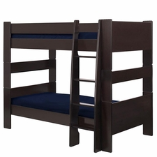 Twin over Twin Bunk Bed in Espresso