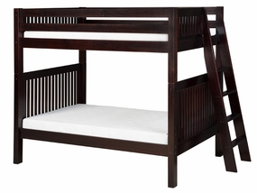 Twin/Twin Mission Bunk Bed with Lateral Ladder in Cappuccino